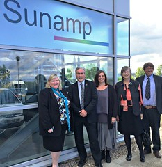 Visiting Sunamp with Claudia Beamish MSP