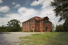 (SouthernHippie) Tags: schoolhouse south southern sky smalltown sad school house history historic historical segregated segregation alabama abandoned al americana abandonment architecture american africanamerican blue beautiful bluesky blackbelt old rural ruin ruraldecay rundown rurex rust red green empty exploring brick bright serene scenic country countryside rustic r