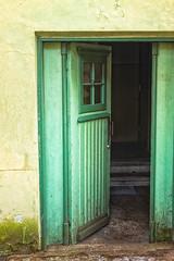 Green Door Open (k009034) Tags: 500px wooden copy space estonia nmme tallinn architecture building corridor dark detail door doorstep green no people old open out order reflection stone travel wall window teamcanon copyspace nopeople outoforder