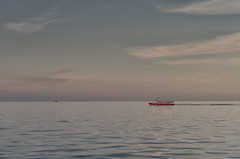 Boat at Sunset (Hattifnattar) Tags: thailand seatran ferry sea sunset gulfofthailand pentax fa43mm limited