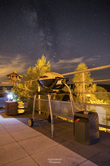 BBQ under the stars (virginieb20) Tags: milkyway milky way stars toiles voielacte voie lacte night nuit sky ciel landscape paysage nature outdoor canon samyang 24mm barbecue terrace bbq photography moselle france