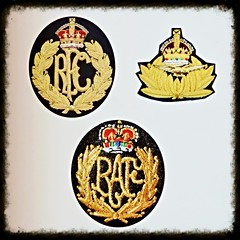 Badges - RFC, RAF, and another (Will S.) Tags: mypics britain wwi worldwarone royalflyingcorps britisharmy stjohnsinternationalairport stjohns newfoundlandandlabrador newfoundland airport aeroport canada royalairforce newfoundlandsquadron overseasaircraftflotilla ww1