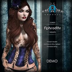 v-aphrodite-VIOLETS (Adoness - Second Life) Tags: adoness secondlife genre burlesque corset mesh slink tmp maitreya belleza hourglass lingerie