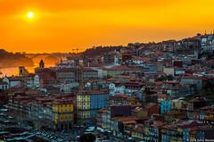 Porto (sidranawaz) Tags: city sunset sky travel architecture oldtown colour colorsinourworld