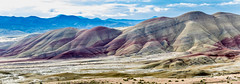 The Painted Hills, Oregon, PANO 1 (KeithCrabtree1) Tags: clouds landscape dirt park paintedhills oregon johndayfossilbeds 2016p2