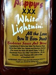 Fair Warning (morroelsie) Tags: liquor bbqsauce whitelightning
