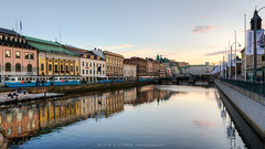 Gothenburg city early evening (Peter Nystroem) Tags: gteborg gothenburg city cityscape canal kanal reflection reflektion church tram bus sprvagn peternystrmphotography