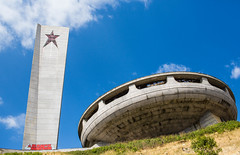 BUZLUDZHA-30 (RAFFI YOUREDJIAN PHOTOGRAPHY) Tags: buzludzha bulgaria spaceship soviet architecture ruin graffiti communist derelict abandoned relic distasteful building monument