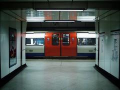 Behind Closed Doors (Douguerreotype) Tags: london people tube uk underground british urban city tunnel britain subway metro gb england