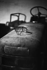 Fahr (.e.e.e.) Tags: fahr traktor track oldtimer hungary újpetre glasses bw blackandwhite dark yashicafxdquartz yashicaml1750 kodaktmax100 fomadonexcelw27 analog analogue film filmscan epsonv350photoscanner explore