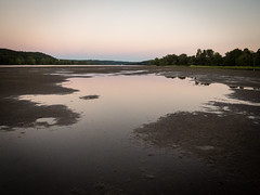 Looking south at low tide (hickamorehackamore) Tags: 2016 ct ctriver canon connecticut connecticutriver haddam haddammeadows fullmoon sandbar statepark summer sunset