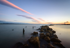 Back on the line (ajecaldwell11) Tags: longexposure whakarire hawkesbay newzealand perfumepoint napier water dawn rocks sky ankh tide caldwell clouds light