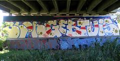 graffiti amsterdam (wojofoto) Tags: graffiti amsterdam nederland netherland holland wojofoto wolfgangjosten 2016 schellingwouderbrug schellingwoude omb
