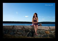 Mikaela at The Quabbin (Peter Camyre) Tags: peter camyre photography female model quabbin reservoir beautiful blue sky day outdoor photoshoot pose posing summer dress shoes feet stone wall people border ladies girls models canon 5d mk iii ef2470mmf28liiusm canoneos5dmarkiii