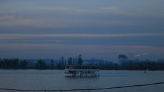 brodic (anorchfygol) Tags: lue river boat belgrade riverfront serbia beautiful fog mystery