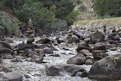 River Runes (brucetopher) Tags: balance stream river brook creek boulder rock rocks gravel riverbed bed water green flow flowing rapid nature peace peaceful rune runes watch zen