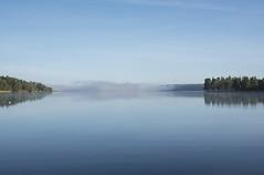 One more time (anek07) Tags: zen lake autumn hst fryken sverige sweden nikon annaekman forrest tree blue sky calm lugn