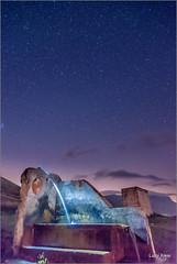 Sibillini - fontana sotto le stelle (Luigi Alesi) Tags: italia italy marche macerata castel santangelo sul nera madonna della cona parco nazionale dei monti sibillini national park notte night luce light fontanan cielo sky stelle stars nikon d750 raw