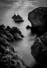 Une vue sur la mer (christophe.meyer1985) Tags: spain espagne escala europe see mer noiretblanc blanckandwhite rocher nature natur