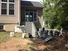 construction (7) (The Sharper Cut Landscapes) Tags: brick walkway steps patio thesharpercutlandscapes thesharpercut landscapedesign landscaping landscapelighting
