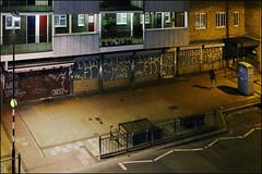 Use / Arxs (Alex Ellison) Tags: use lsd arxs yrp yks night shutter throwup throwie eastlondon shoreditch urban graffiti graff boobs