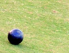 Rolling (Khaled M. K. HEGAZY) Tags: nikon coolpix p520 maadi sporting club cairo egypt outdoor closeup macro croquetball grass green blue black