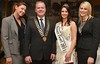 Louise O'Hara, Radisson Blu, Declan Dooley, President Galway Chamber, Serena Trench, Oyster Queen 2011 Tarron Lynch, Radisson Blu at the launch of the 58th Galway International Oyster Seafood Festival in the Meyrick Hotel on Thursday. Photo: Joe Travers.
