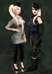The Officers - Zombiepopcorn Brand (Loute Diesel [Blogger & Curious]) Tags: sassy atomic delusions synthetique fashionvictim sisu loq 7981 thedressingroomblue zombiepopcornbrand fifridays severadgarden