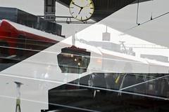 Trainstation (Sascha Bentz) Tags: people 3 art clock train canon eos evening abend artwork exposure mark kunst iii eisenbahn bahnhof several hauptbahnhof trainstation sascha multiple 5d bahn ludwigshafen knstler bentz mehrfachbelichtung