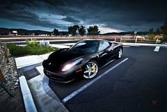 Photogenic (Folk|Photography) Tags: blue light sky storm black clouds evening long exposure italia dusk nevada trails ferrari exotic reno tones supercar 458