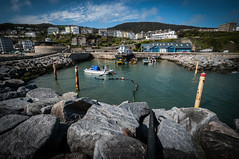 The Sensless Pipe (Robee Shepherd) Tags: sea sky water clouds boats rocks quay ventnor posts oceanblue