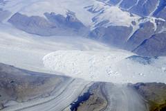 Glaciers draining Sermersooq with advancing calving, eastern Greenland (cocoi_m) Tags: ice glacier arctic greenland geology eastern calving geomorphology aerialphotograph sermersooq