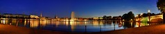 Binnenalster Pannorama zur blauen Stunde / Explore (matt.koerner1) Tags: night germany deutschland raw pentax nacht hamburg matthias bluehour k5 binnenalster blauestunde krner pannorama sigma18250 mattkoerner1