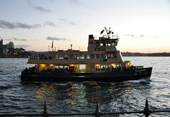 Sydney Ferry, Alexander arrives at Milsons Point Wharf (john cowper) Tags: sunset sydney newsouthwales alexander sydneyharbour sydneyferry