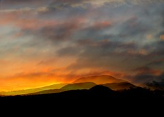 september 15th 2012 sunrise overlaid (rospix) Tags: sky cloud nature collage clouds sunrise dawn hill september hills 2012 rospix