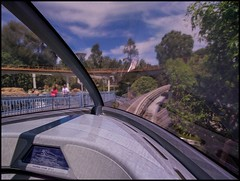 Monorail Monday - (Edition 48) (Coasterluver) Tags: disneyland front disney monorail tomorrowland pilotseat monorailblue andrewkirby monorailmonday coasterluver