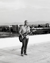 Eric Koch (andrew sea james) Tags: roof portrait musician 120 film rooftop mediumformat fuji pentax lasvegas guitar nevada band 400 scanned epson neopan 6x7 smc 105mm f24 v500