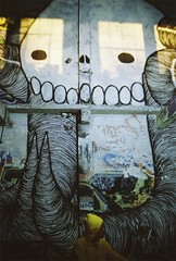 Swampy (Tennessee Williams) Tags: 35mm graffiti berkeley paint spray special canvas warehouse delivery endless swampy filmphotography