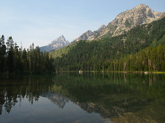 Leigh Lake-Grand Teton National Park-Wyoming (mikemellinger) Tags: trees usa mountain lake mountains west reflection nature beauty america landscape nationalpark scenery hill rocky wyoming grandtetons peaks leigh range grandteton grandtetonnationalpark