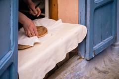 Chefchaouen - Home Made Bread (aminefassi) Tags: world life africa leica blue copyright food bread lumix panasonic morocco maroc maghreb chaouen tradition chefchaouen 45mm marokko rif lightroom photographe fooding elmarit mft xauen morokko  marueccos gx1 microfourthirds aminefassi xexauen