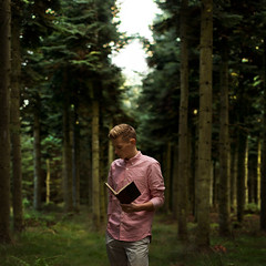 Memories - I 38:52 I (Lloyd Revald) Tags: trees light red portrait shirt denmark book amazing bokeh memories spot lloyd spruce waow revald