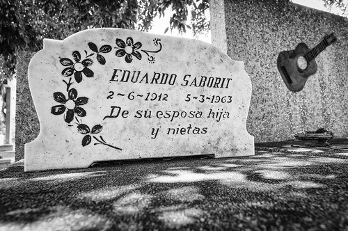 Tombstone of Eduardo Perez Saborit - a famous Cuban guitarist and composer
