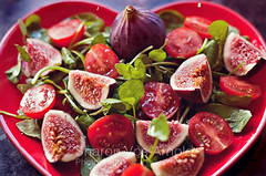 Fig Salad ~ explored :) ( Angel of light ) Tags: red living salad healthy fig explore angeloflght2009