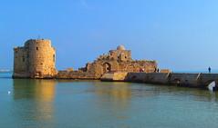 Sidon Sea Castle (قلعة صيدا البحرية) (twiga_swala) Tags: sea lebanon building castle heritage monument architecture port ruins mediterranean historic east saida middle lebanese crusaders لبنان sidon قلعة qalat صيدا البحرية