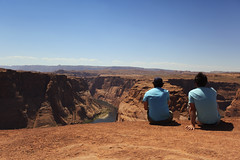 This Is Life (Fionn Luk) Tags: life trip travel blue summer vacation arizona sky people mountain beautiful canon landscape photography view unitedstates bend hiking details scene tourist hike days page 5d horseshoe enjoying luk photooftheday fionn beautifullife