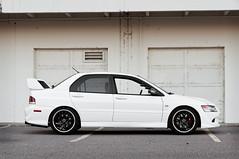 Side Profile (Kenta Young) Tags: white black car japanese nikon colorado photoshoot 8 evolution rims mitsubishi evo d90 evo8 mitsubishievo nikond90