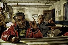 Money Face and Joe (Rod Waddington) Tags: money mountains face bar tanzania restaurant village joe mtns mtae moneyface usumbara