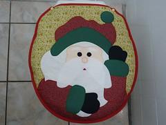 P1020177 (Monne Arts) Tags: natal de bonito artesanato capa noel lindo festa decorao jogo banheiro mamae papai tecido colorido algodo enfeite proteo festivo natalino