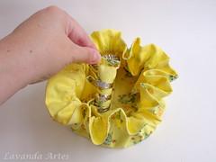 Porta biju com aneleira (Lavanda Artes) Tags: biju tecido sapinho bijuterias portabijuteria aneleira organizadorbijus