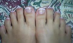 Frenchie in the foot. (Caroline Vargas da Silveira) Tags: nail nailart esmalte francesinha risquê clubedoesmalte